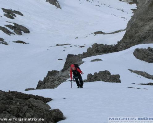 am Westgrat der Hochfrottspitze