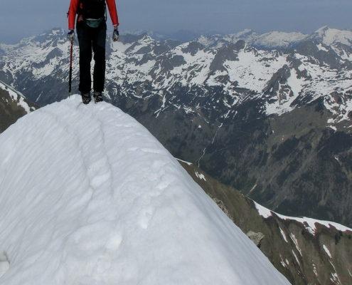 kurz vor dem Gipfel der Hochfrottspitze