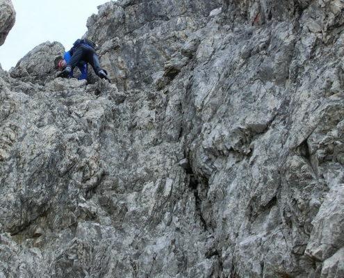 Abstieg von der Hochfrottspitze - II+ Geände